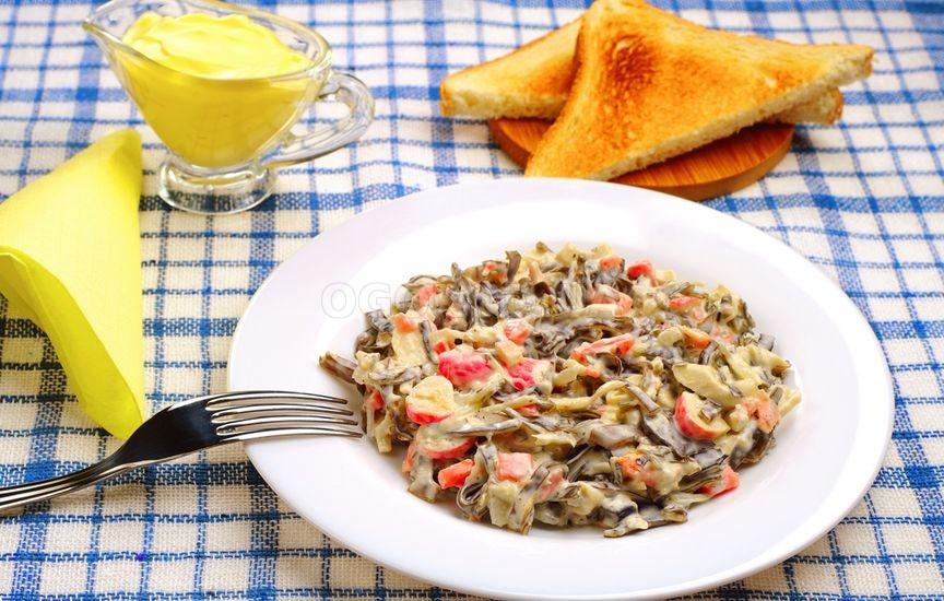 Рецепт салата с грибами и куриным филе